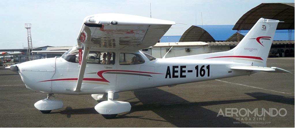 El avión ligero Cessna 172S de la Escuela de Aviación del Ejército Ecuatoriano
