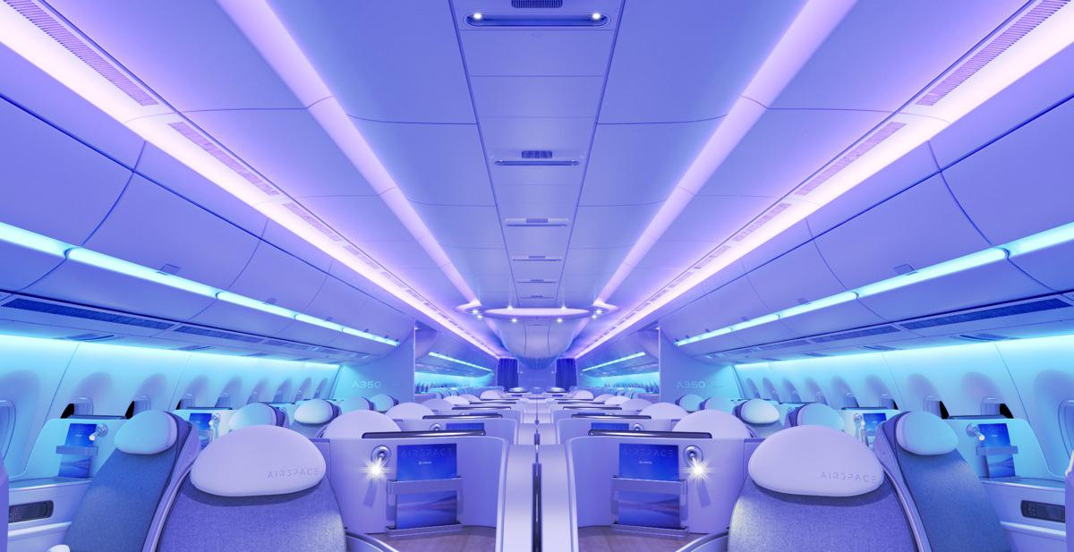 """Cabina A350 """"Airspace by Airbus"""""""